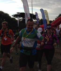 Andy Humphries at the start of Isle of Wight challenge 2014