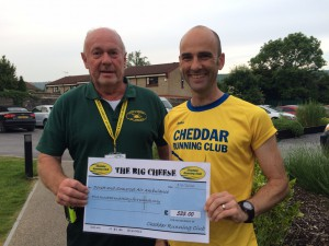 Andy with the representative from Dorset & Somerset Air Ambulance